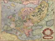 MAP ANTIQUE EUROPE EUROPA MERCATOR GEOGRAPHY 30X40 CMS FINE ART PRINT ART POSTER BB8172