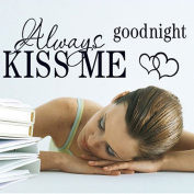 seguryy Always Kiss Me Wall Art Stickers for Bedroom Decorations
