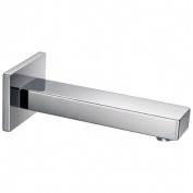 Square Chrome Mixer Shower Bath Filler Tap Spout 200mm