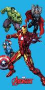 Marvel Avengers Blue Beach Towel 75 x 150 CM