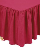 •ROHILinen• Luxury 68 Pick Red Double FRILLED Base Valance sheet