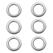 6pcs Round Plastic Curtain Eyelet Rings Silvery