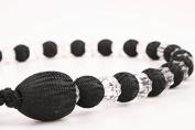 1 CRYSTAL Black Curtain Beaded Rope Tie-Back Tie Backs