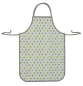 Polka Dot Design Waterproof Plastic Adult Apron