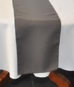 1 x Dark Grey Polyester Table Runner 38cm x 250cm