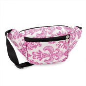 Pink & White Patterned Print Fabric Bum Bag / Fanny Pack - Festivals /Club Wear/ Holiday Wear