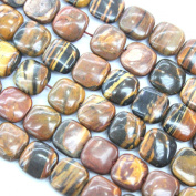 Natural Wood Opal Square Gemstone Beads Jewellery Findings