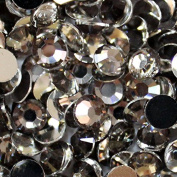 2000 Pcs 3mm 14 Facets Resin Round Rhinestone Flat Back Bling Shine Clear Grey Colour 06