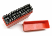 """MARKING STAMPS HAND PUNCHES ALPHABET & NUMBERS 2.5mm LOWER CASE 36 Pc Set 3/32"""""""