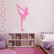 Wall Decals Sport Figure Skating Skater Ice Dancing Sportswoman Design for Studio Skating Any Room Home Decor Vinyl Decal Sticker ML131