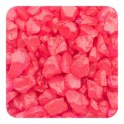 Sandtastik Preschool Kids Children Craft Coloured ICE Real Glass Gems, Scatters 10 lb (4.5 kg) Box; 4 - 10 mm - Red