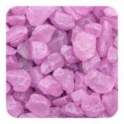 Sandtastik Preschool Kids Children Craft Coloured ICE Real Glass Gems, Scatters 10 lb (4.5 kg) Box; 4 - 10 mm - Purple