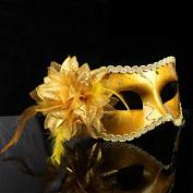 Nanier Mistery Luxury Mysterious Pretty Lady Glitter Mask, Women's Gorgeous Venetian Masquerade Mask