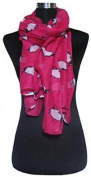 FOREVER YUNG Unusual Cute Penguin Print Lightweight Scarf