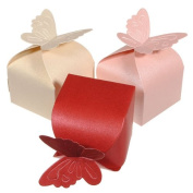 Butterfly Pattern Wedding Party Gift Candy Box.