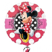 Minnie Mouse Red Polka Dot Portrait 46cm Foil Balloon