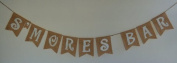 Burlap 'S'mores Bar' Banner for Rustic Birthdays or Shabby Chic Events