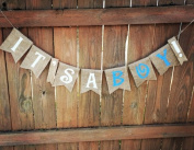 Burlap 'It's a Boy!' Banner for a Shabby Chic Baby Shower or Event