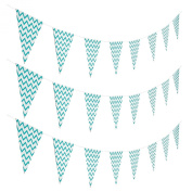 Turquoise Chevron Pennant Banner