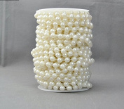 Joinwin® Hot New 10 mm Large Ivory Pearls Faux Crystal Beads by the Roll Romantic Wedding Party Garland Decor