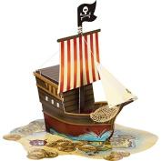 Pirates Map Ship Shape Centrepiece