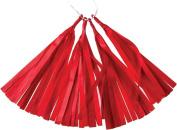 Red 30cm Paper Tassels - Set of 4