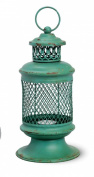 Green Iron Basket Lantern