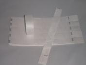 100 WHITE Premium Tyvek Wristbands