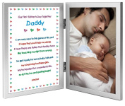 Our First Father's Day Together - New Dad Sweet Poem in Double Frame - Add Your Photo
