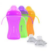 Bebek Soft and Flexible Spout w/Handles Cup + extra Spouts Combo (set of 3)