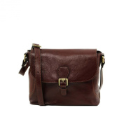 Tuscany Leather - Jody - Leather shoulder bag with flap Brown - TL141278/1