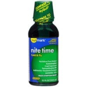 Sunmark Nite Time, Cold & Flu Liquid, Original Flavour - 350ml