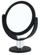 Danielle Enterprises 5x Magnification Soft Touch Round Vanity Mirror, Black
