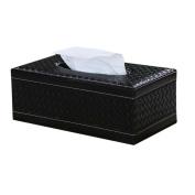 KINGFOM™ Rectangular PU Leather Facial Tissue Box Napkin Holder for Home Office, Car Automotive Decoration
