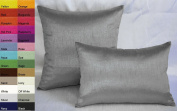 Creative Solid Decorative Pillow Cover / Throw Pillow Cover 12 by 18 - Charcoal