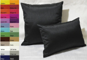 Creative Solid Decorative Pillow Cover / Throw Pillow Cover 12 by 18 - Black