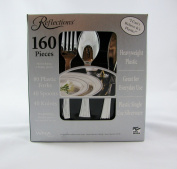 2 X 160 Pieces Reflections Heavyweight Plastic Silverware - Forks, Spoons, Knives
