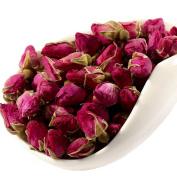 Chinese Tea Culture, Red Rose Bud Loose Leaf Tea, for Wrinkles, Fatigue, Skin, Acne, Blood Circulation, Endocrine, Menstrual Pain, Healing Wounds, Herbal Tea, Organic Tea, 60ml
