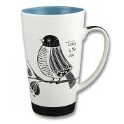 Karma, by Stephen Joseph Black and White Bird Mug, Multicolor