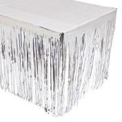 Silver Fringed Tableskirt