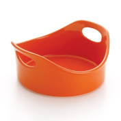 NEW Rachael Ray Stoneware 1.9l Round Bubble and Brown Baker, Orange