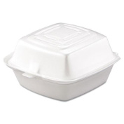 DCC 50HT1 Carryout Food Container, Foam, 1-Comp, 5 1/2 x 5 3/8 x 2 7/8, White, 500/Carton