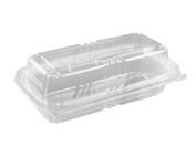1180ml Safe-T-Fresh Clear Plastic Food Container - 150 per case
