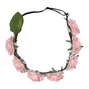 Mia Beauty Flashion Flowers Lighted Flower Headband - Blush Rose