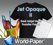 JET-OPAQUE II HEAT TRANSFER PAPER 22cm X 28cm CUSTOM PACK 100 SHEETS