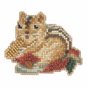 Chippy Beaded Halloween Counted Cross Stitch Kit Mill Hill 2105 Autumn Harvest MH185205