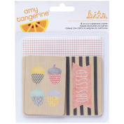 American Crafts 368981 Home Amy Tangerine Printed Chipboard, Multicoloured