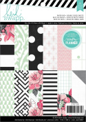 Heidi Swapp Hello Beautiful Patterned Paper Pad for Black and White Planner, 15cm by 20cm