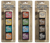 Ranger Tim Holtz Distress Mini Ink Pad Kits #1, #2 and #3 Bundle