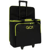 AccuQuilt GO! Multi-Purpose Rolling Tote with Die Bag in Black